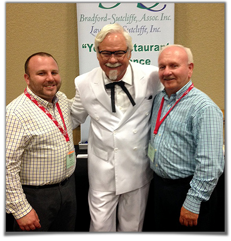 Aaron & Barry Sutcliffe with Colonel Sanders